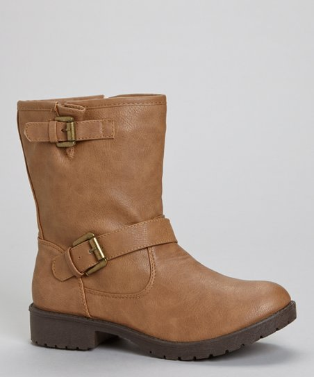 Tan Martina Buckle Boot