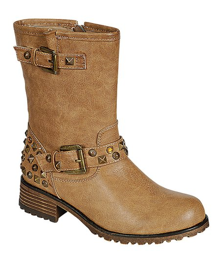 Khaki Studded Jayda Boot