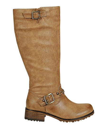 Khaki Jayda Riding Boot