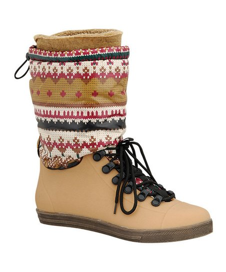 Tan Eliza Drawstring Boot