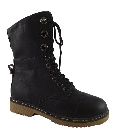 Black Lace-Up Alyson Boot