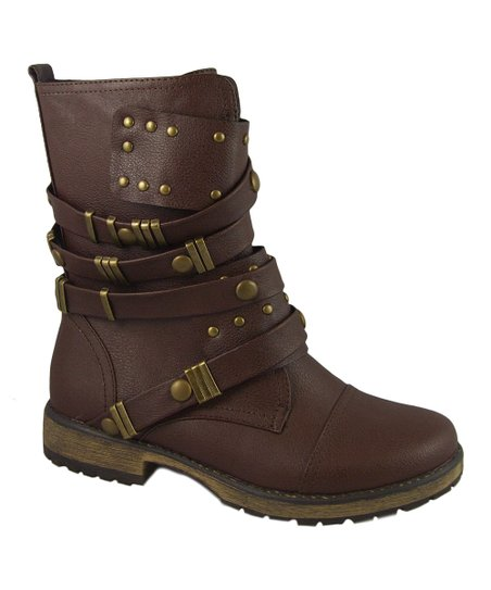 Brown Strappy Alisia Boot