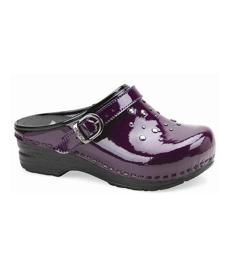 Purple Patent Leather Jemma Clog - Kids