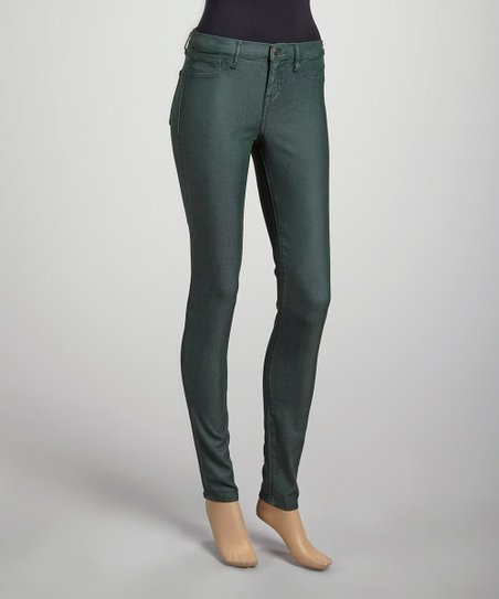 Hunter Green Jessica Mid-Rise Tencel Leggings