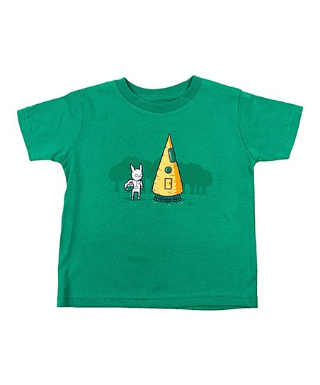Dark Kelly Green Carrot Rocket Tee - Toddler & Kids