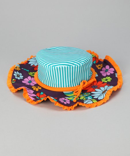 Orange & Purple Paradise Sunhat