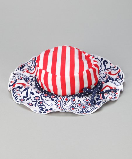 Blue &amp; Red Born Free Sunhat