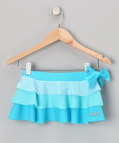 Turquoise Tiered Daniella Skirt - Toddler & Girls