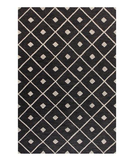 Black Diamond Wool Area Rug