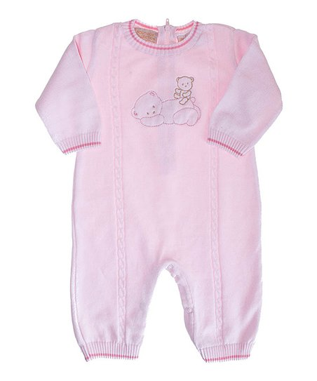 Pink Teddy Bear Playsuit - Infant