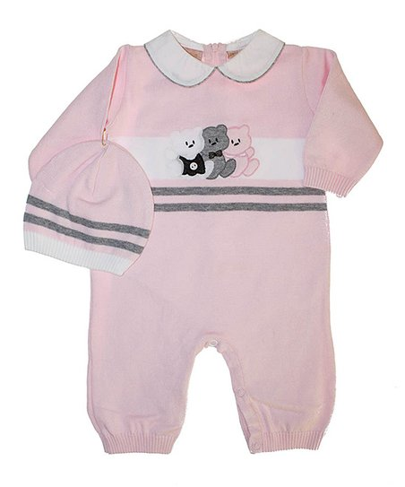Pink Bears Playsuit & Beanie - Infant