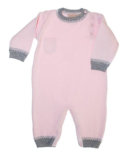 Pink & Gray Playsuit - Infant