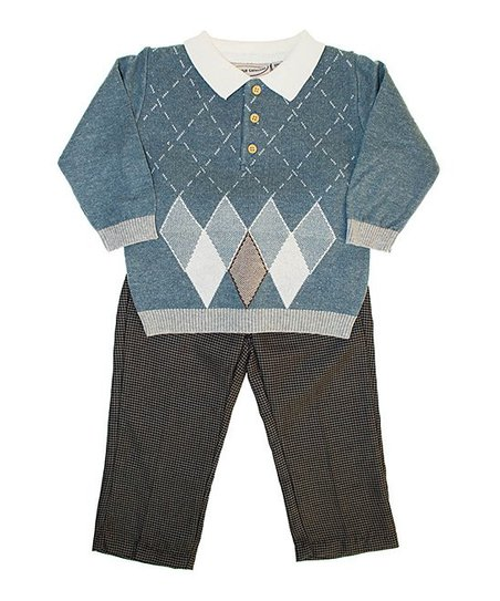 Blue Argyle Sweater Set - Infant, Toddler & Boys