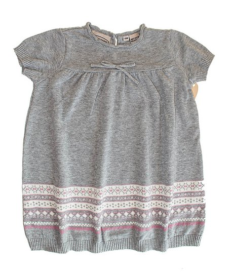 Gray & Pink Stripe Dress - Infant, Toddler & Girls