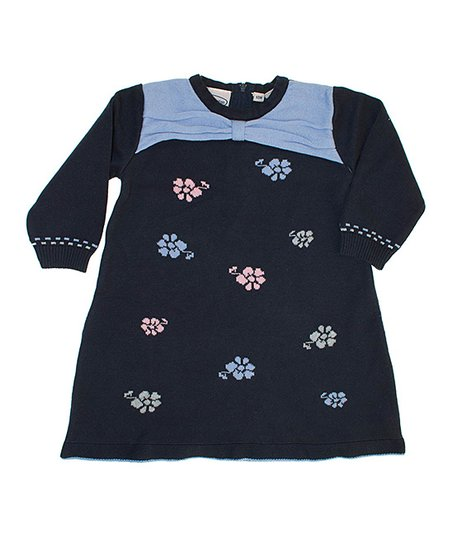 Blue Flowers A-Line Dress - Toddler & Girls