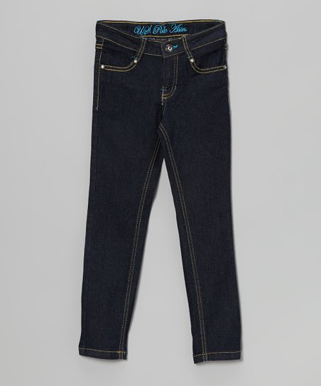 Surf Blue Skinny Jeans - Toddler & Girls