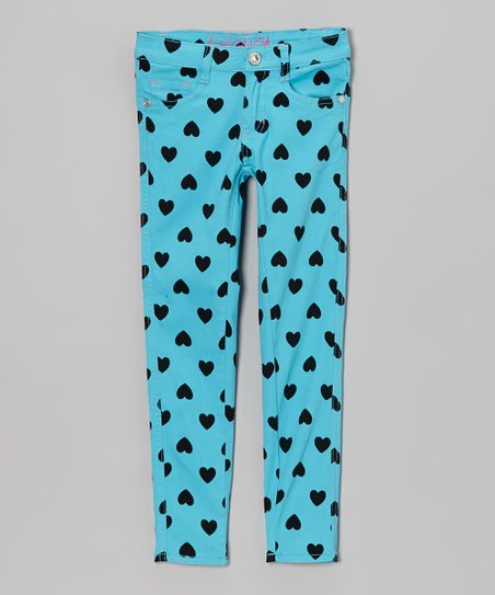 Aqua Heart Skinny Jeans - Toddler & Girls