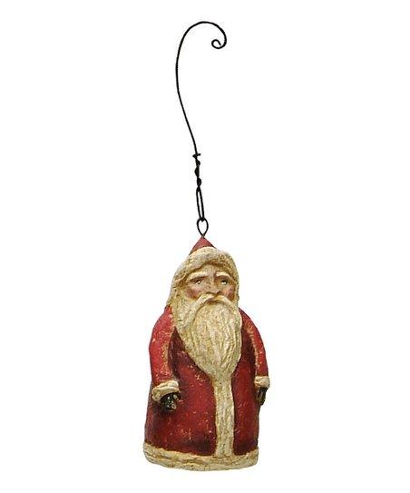 Red Santa Ornament – Set of Six