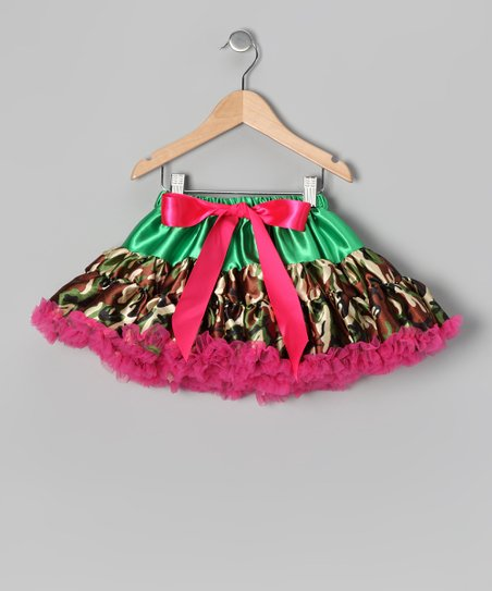 Pink & Green Camouflage Pettiskirt - Toddler & Girls