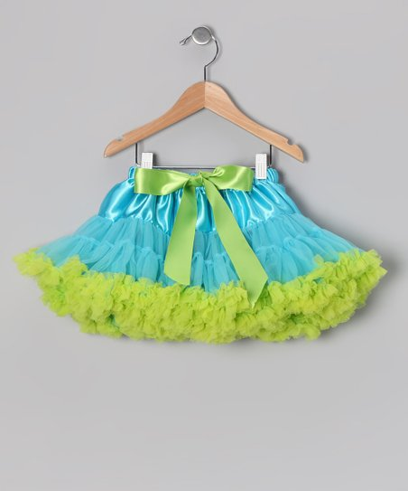 Aqua & Lime Pettiskirt - Infant, Toddler & Girls