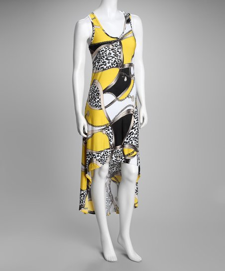 Yellow Status Hi-Low Maxi Dress