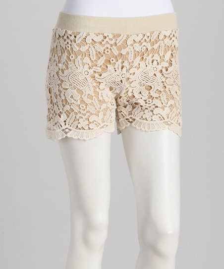 Ivory Crochet Lace Shorts