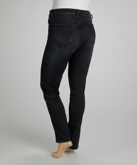 Black Wash Jagger Skinny Jeans - Plus