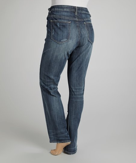 Dark Wash Jagger Straight-Leg Jeans - Plus
