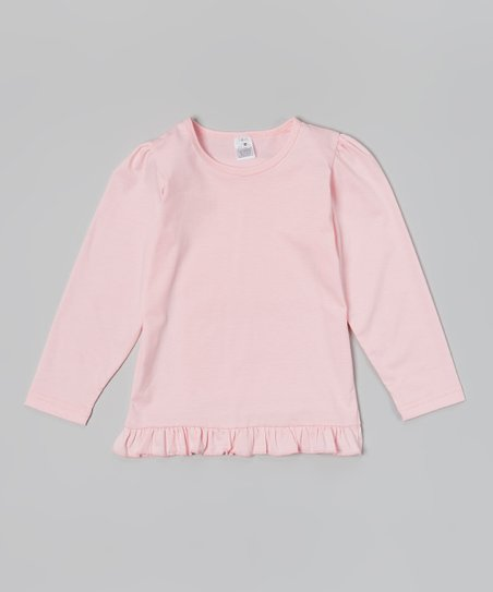 Light Pink Ruffle Long-Sleeve Tee – Toddler & Girls