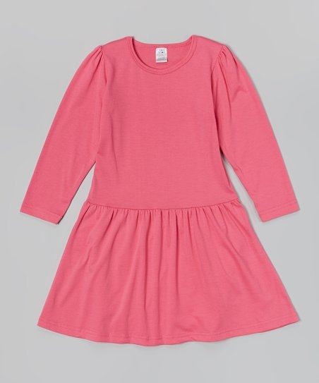 Hot Pink Long-Sleeve Dress – Toddler & Girls