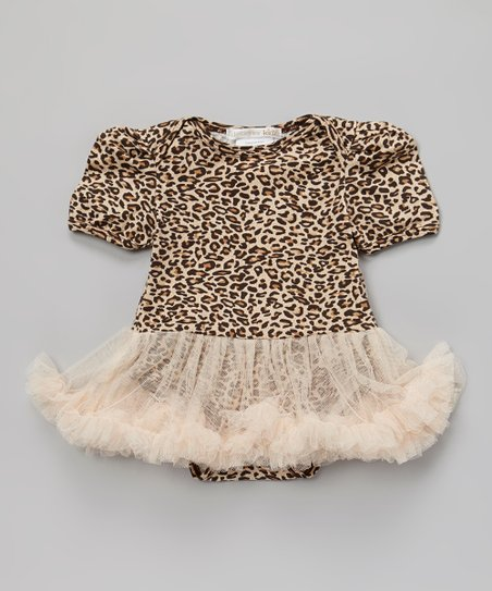 Tan Miss Pussycat Tutu Bodysuit - Infant