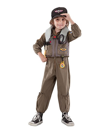 Tan Fighter Pilot Dress-Up Set – Boys