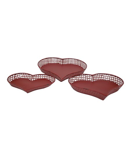 Red Heart Plate Set