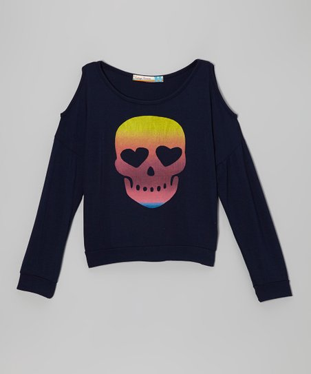 Navy Skull & Cross Bones Sweatshirt
