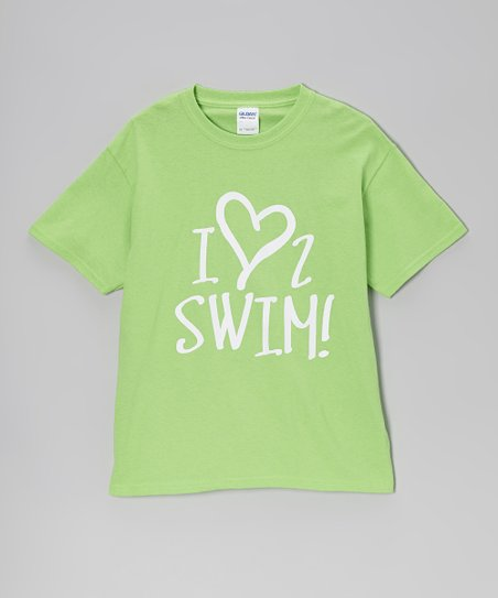 Lime 'I Love 2 Swim' Tee – Girls & Women