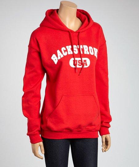 Red 'Backstroke' Sweatshirt – Adult
