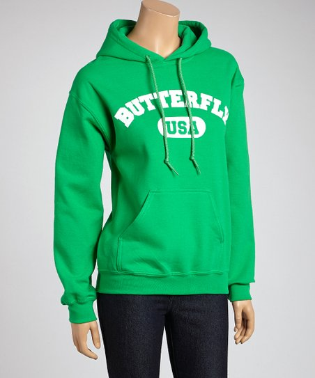 Green 'Butterfly' Sweatshirt – Adult