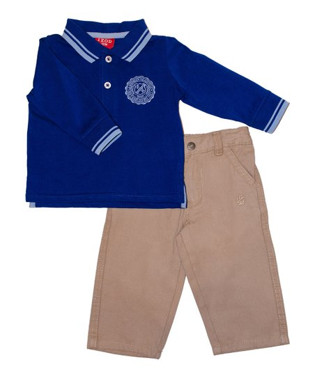 Blue Polo & Khaki Pants - Infant