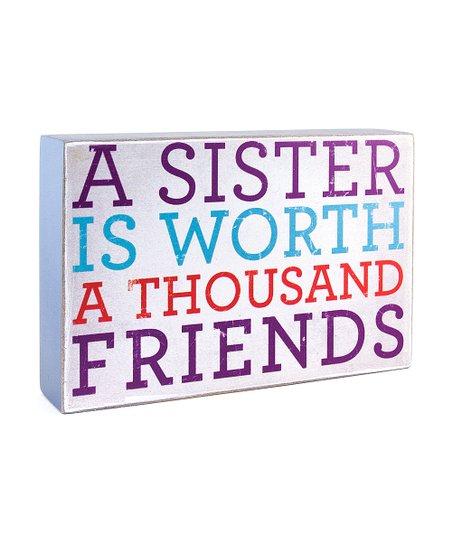 'Sisters' Box Sign