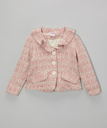 Pink Tweed Blazer - Toddler & Girls