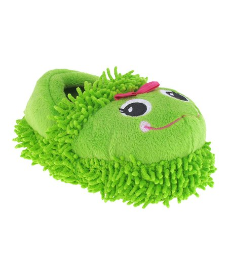 Green Lovable Frog Slipper - Kids