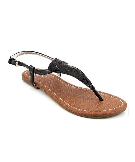 Black Glitter Presley Sandal