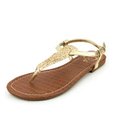 Gold Glitter Presley Sandal