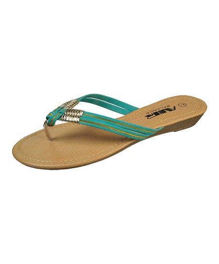 Aqua Woven Strap Sandal