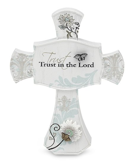 'Trust in the Lord' Standing Cross
