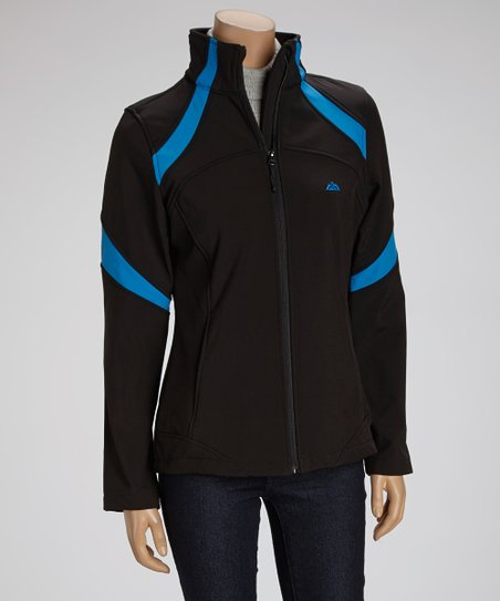 Black & Blue Stripe Jacket - Women