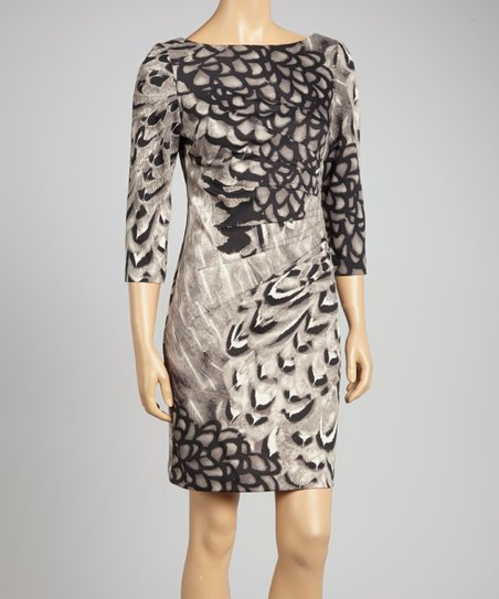 Gray Abstract Dress