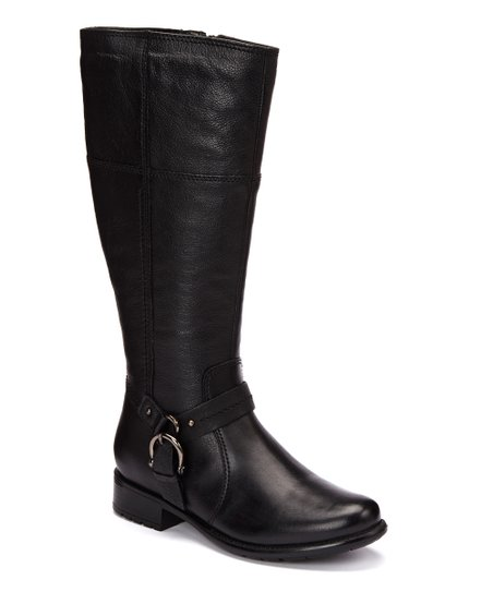 Black Plaza Pug Riding Boot - Women