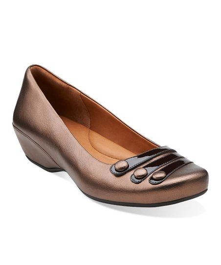 Brown Metallic Concert Drum Leather Pump