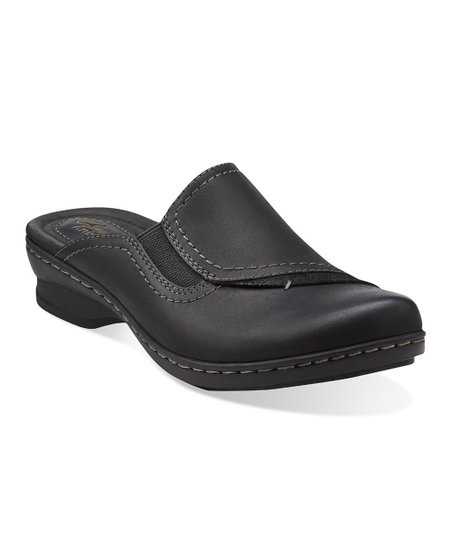 Black Ideo Hay Leather Mule